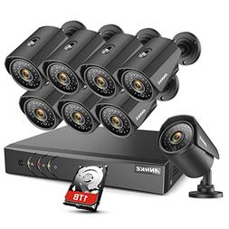 ANNKE AHD 8CH 1080N Security DVR & 1TB Hard Drive Surveilla