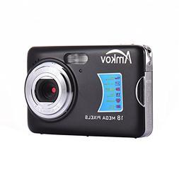 Amkov AMK-CDFE Digital Camera 18 MP 2.7 in Display Mini Port