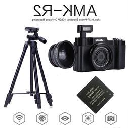 AMKOV AMK-R2 24MP 1080P Digital SLR  Camera+Wide-angle Lens