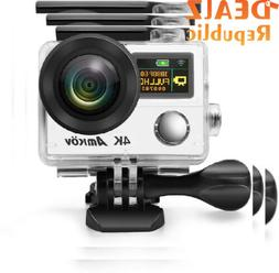 Anti-Shake 4K Action Camera, Ultra HD Cam, AMKOV 8000S Water
