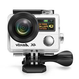 Anti-Shake 4K Action Camera, Ultra HD Action Cam, AMKOV 8000