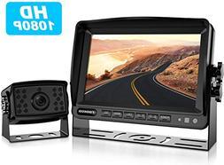 HD Backup Camera System Kit,7''1080P Reversing Monitor+I