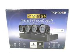 Brand NEW Wisenet 8-Channel 4-Camera 4K Security System w/ 2