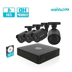 LaView 4 Channel Full HD 1080P Business and Home Security Ca