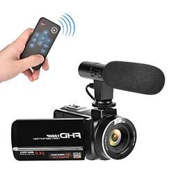 Full HD Camcorder 1080p Digital Camera 30FPS Video Camera fo