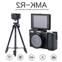 """AMKOV 3.0""""  1080P Digital Cameras Camcorder DSLR+Wide-angle"""