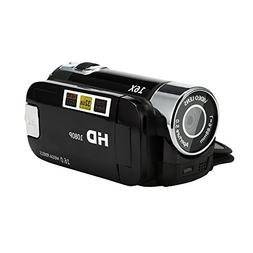 Aurorax Video Camera Camcorder HD 1080P 2.7 Inch LCD Rotatab