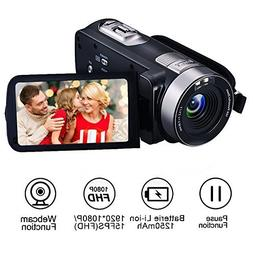 Camcorder Camera Full HD 1080p 24.0MP Digital Video Webcam R