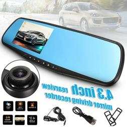 Car DVR 4.3'' 1080P HD Camera Dash Cam Video Recorder G-sens