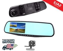"Car DVR Rear view Mirror Video Recroder 4.3"" inch Car Camera"