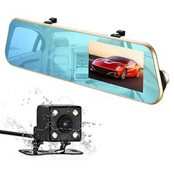 isYoung 720P HD Car Video Recorder Mirror Dash Cam Rearview