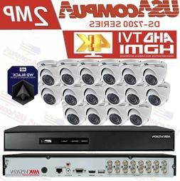 HIKVISION CCTV SECURITY SYSTEM 16CH KIT 16 CAMERA  DOME TURB