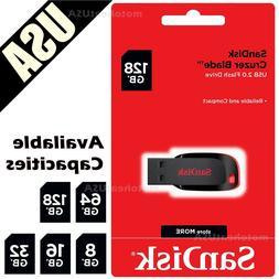 SanDisk Cruzer Blade 8GB 16GB 32GB 64GB 128GB Flash Drive US