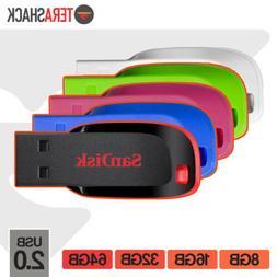 SanDisk Cruzer Blade Flash Drive 8GB 16GB 32GB 64GB USB 2.0