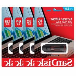 SanDisk Cruzer Glide 128GB 64GB 32GB 16GB USB 3.0 Flash Driv