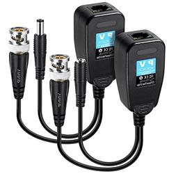 VIMVIP HD-CVI/TVI/AHD Passive Video Balun with Power Connect