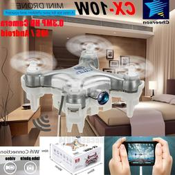CX-10W 2.4Ghz 6-Axis Mini Gyro RC Quadcopter w/ HD Camera Vi