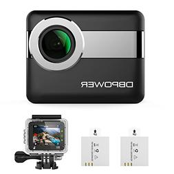"DBPOWER N6 4K WiFi Action Camera, 2.31"" LCD Touchscreen 20MP"