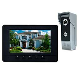 "AMOCAM Wired Video Doorbell Phone, 7"" Video Intercom Monitor"