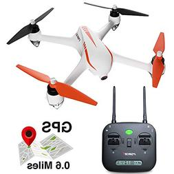 Force1 Drone with Camera and GPS Return Home Brushless Motor