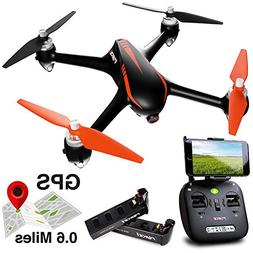 Force1 Drone with Camera Live Video and GPS Return Home Brus