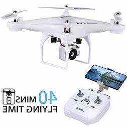 Drone with HD Camera FPV WiFi Live Video 40 Min LONG FLIGHT