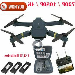 Drone X Pro WIFI FPV 4K HD Camera 3 Battery Foldable Selfie