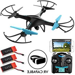 Drones with Camera for Adults or Kids - U45WF WiFi FPV Live