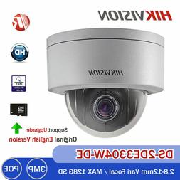 HIKVISION DS-2DE3304W-DE 3MP PTZ 4X Zoom Dome Network IP HD