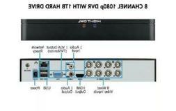 Night Owl DVR- 1TB HD Analog 1080p 8 channels DVR+2Cameras