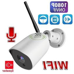 FHD 1920*1080P WiFi Outdoor Bullet Security HD Camera Wirele