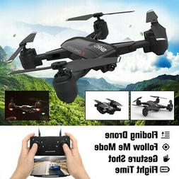 Foldable RC Drone With HD Camera 1080P Selfie Follow Me Heli