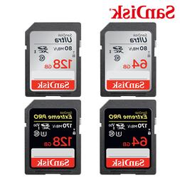 <font><b>SanDisk</b></font> 64GB SD Memory Card 128GB 256GB