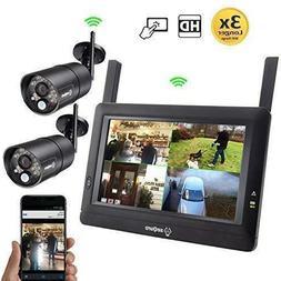 "SEQURO GuardPro Surveillance System 7"" Wireless Touchscreen,"