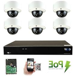 GW Security 8CH 4K NVR 5MP Network IP Security Camera System
