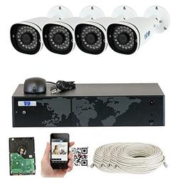 GW Security H.265 Video Audio Recording IP Camera System, 8