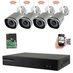 GW 9 Channel 5MP 1920P Network Wireless WiFi Security Camera