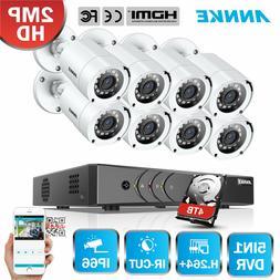 ANNKE H.264+ 1080P Lite 8CH DVR 5IN1 HD 2MP 3000TVL Home Sec