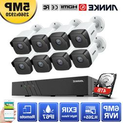 ANNKE H.265+ 6MP 8CH NVR Full HD 5MP POE CCTV Security Camer