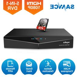 SANNCE HD 1080N 5in1 8CH CCTV DVR for Security Camera System