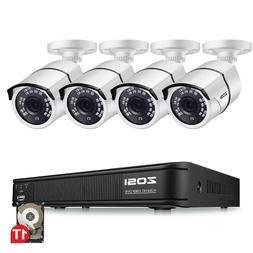 ZOSI 8CH 1080p DVR Vision Outdoor Home CCTV Security Camera