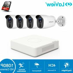 HD 1080P DVR 4 CH 4 Cameras Home Security Surveillance Camer