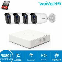 HD 1080P DVR 4 CH 4 Cameras Home Security Surveillance Camer