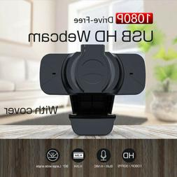 HD 1080P Webcam Computer USB Cameras for Live Broadcast Vide