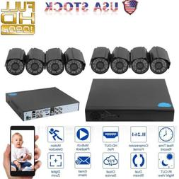 HD AHD Home Surveillance System 8CH DVR+8pcs1080P 1TB Night