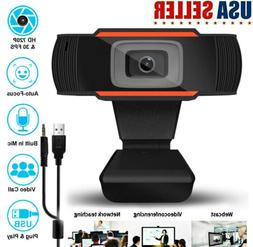 HD Cam USB Webcam Microphone Autofocus 12MP Web Camera For P