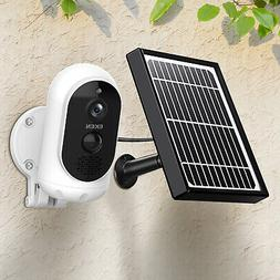 HD Camera with Solar Panel IP65 WIFI Wireless Outdoor 140°