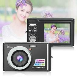 HD Mini Digital Cameras,21MP Point and Shoot Digital Video C