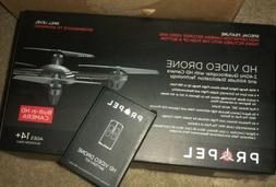 Propel HD Video Drone 2.4GHz Quadrocopter w/ HD Camera & Ext