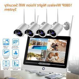HD Wireless IP Cameras 4pcs 2MP Indoor/Outdoor Waterproof Fr